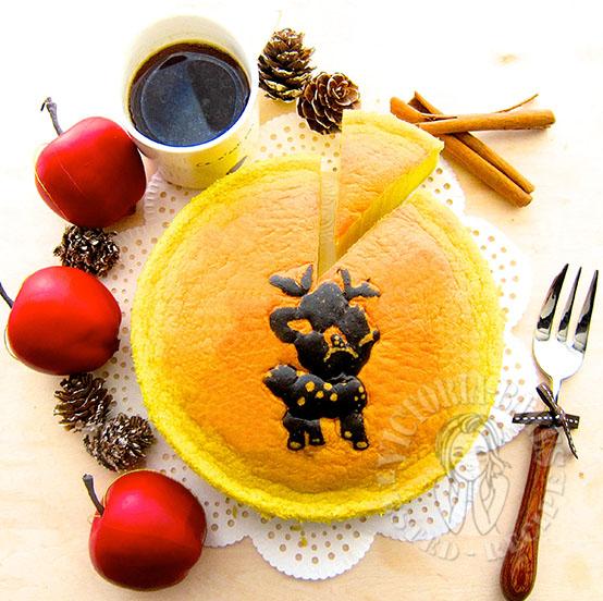 bambi pandan ogura cake 小鹿斑比香兰相思蛋糕 ٩(●˙▿˙●)۶…⋆.