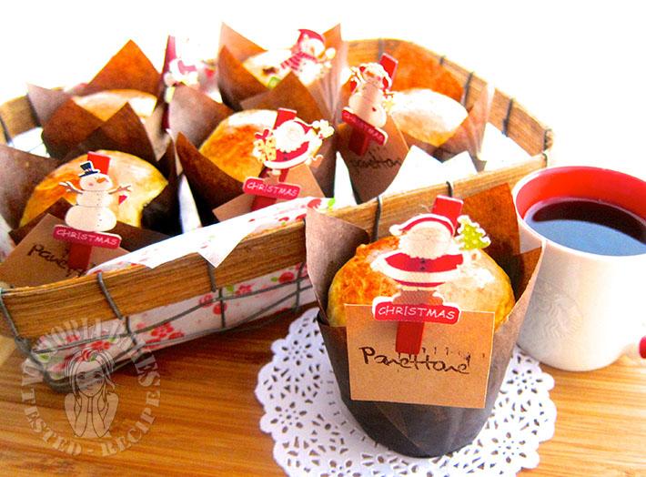 miniature panettone 迷你意大利面包 (*^^*)