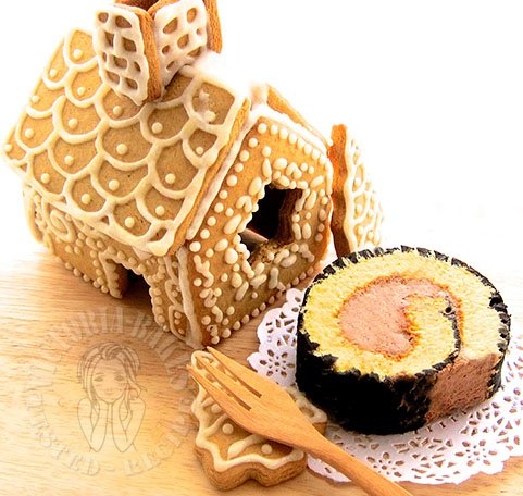 orange souffle log cake 柳橙舒芙蕾木材蛋糕 (*´ڡ`●)