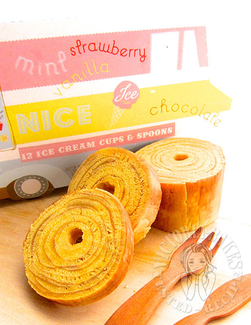 baumkuchen (how to make german layered cake at home) 自制年轮蛋糕 ꒰ღ˘‿˘ற꒱❤⃛
