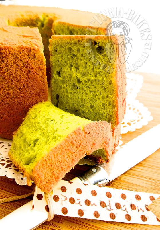 tang mian (cooked dough) pandan chiffon cake 烫面斑兰戚风蛋糕 ❣◕ ‿ ◕❣