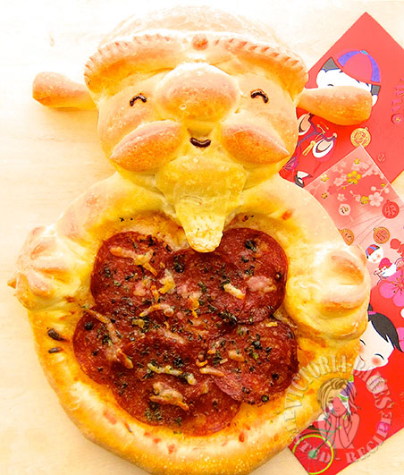 """god of fortune"" homemade pizza 财神爷简易披萨 ⁝(๑⑈௰⑈)◞⁝˚º꒰꒱"