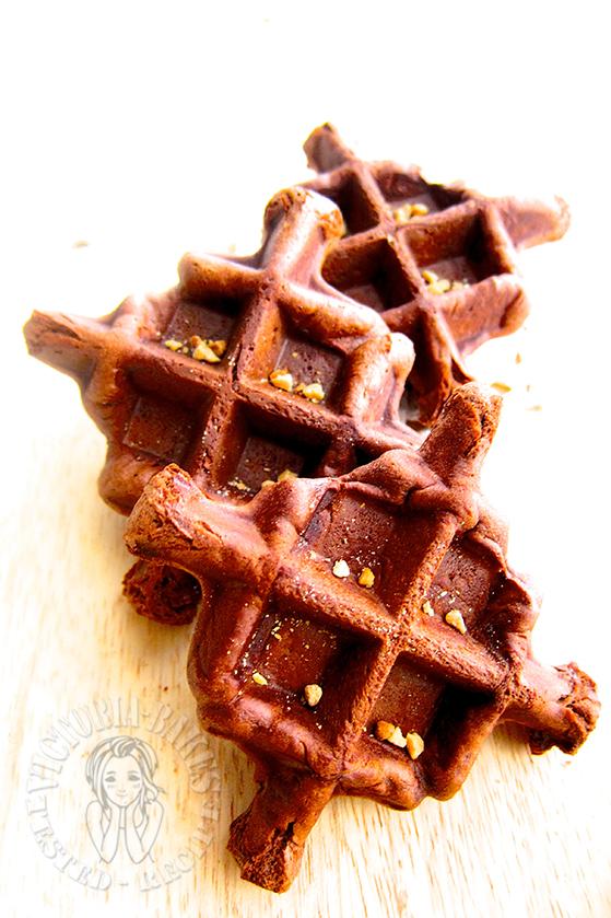 chocolate peanut brussels waffles 花生巧克力布鲁华夫 ꒰⑅ᵕ༚ᵕ꒱˖♡