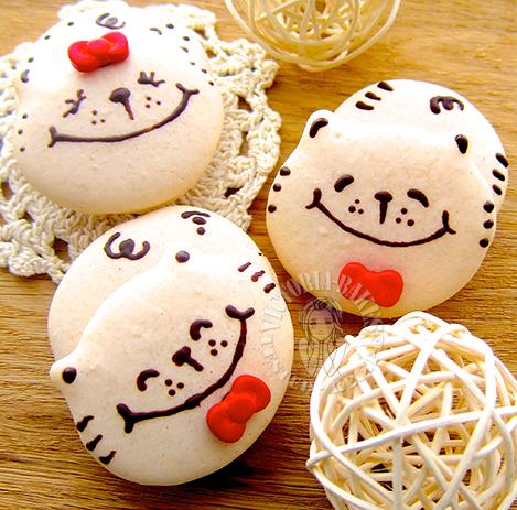 kitty macaron 猫咪马卡龙 ฅ(≚ᄌ≚)
