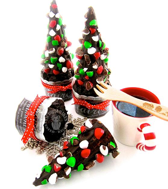 christmas tree chocolate cupcakes 圣诞树巧克力杯子蛋糕