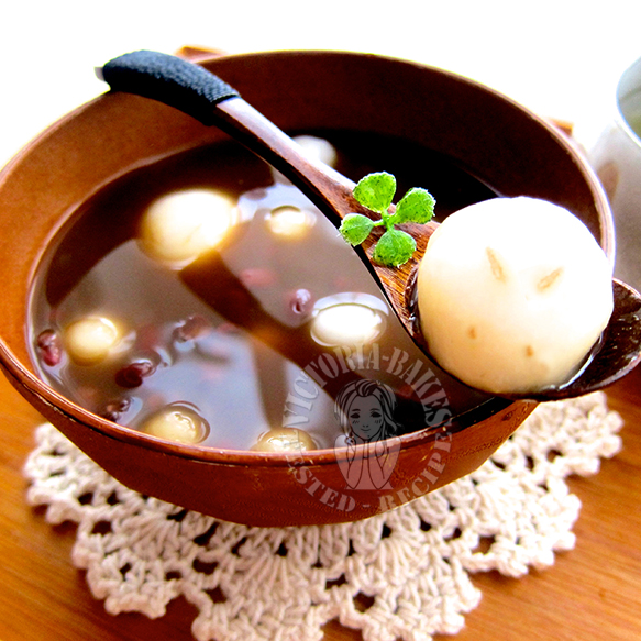 friday's dessert ~ black sesame glutinous rice balls 周五甜点~ 黑芝麻汤圆