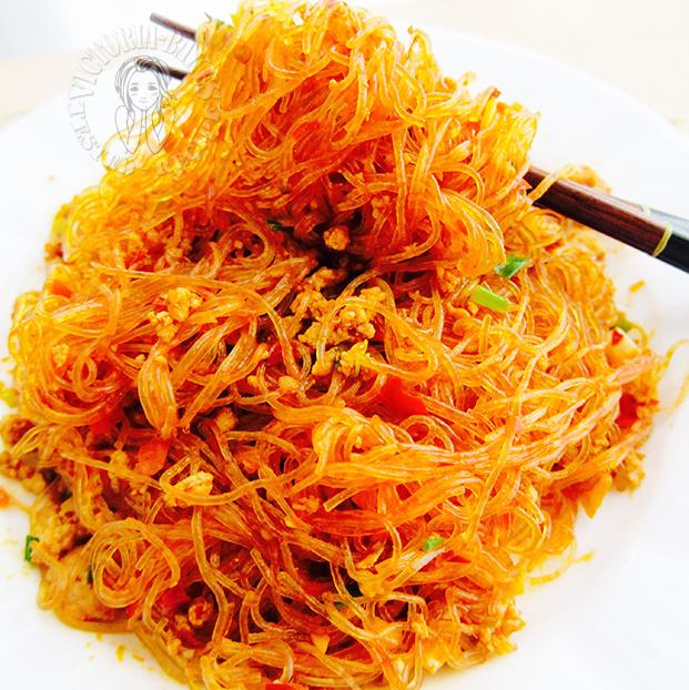 sichuan cuisine ~ ants climbing a tree 蚂蚁上树
