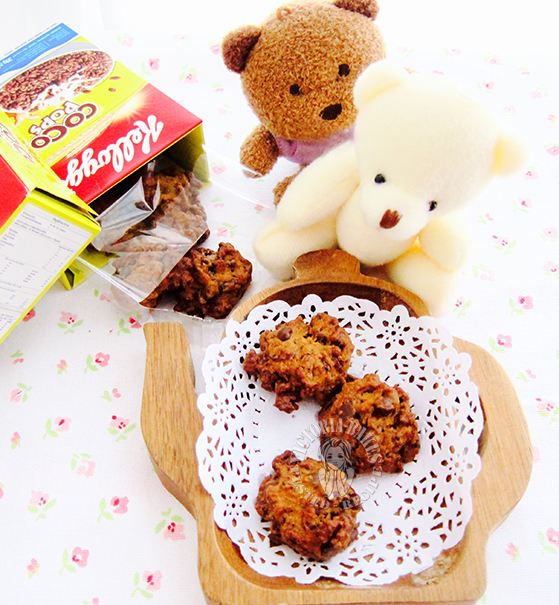 crispy crunchy coco pop cookies ~ highly recommended 卜卜脆可可圈曲奇 ~强推