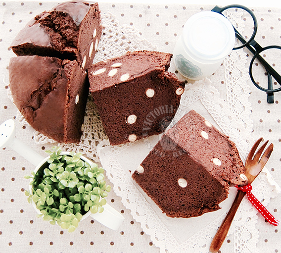 polka dot chocolate bailey's hot cross chiffon cake 巧克力珍珠百利酒戚风拜拜蛋糕