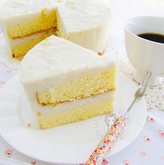sweet corn custard japanese sponge cake 甜玉米羹日式海绵蛋糕