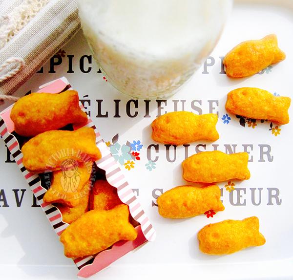 handmade goldfish crackers 自制金鱼饼干
