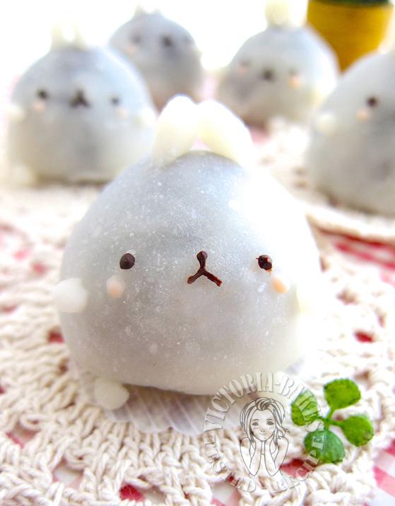 molang strawberry daifuku (◍•ᴗ•◍)❤ molang 草莓大福