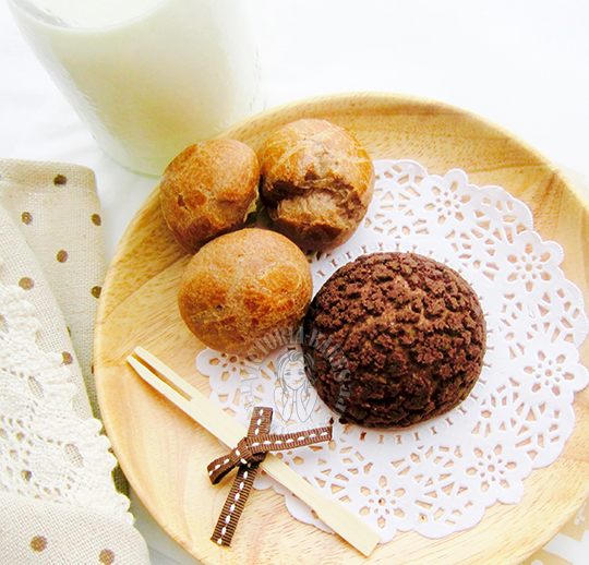 chocolate custard cream puff 巧克力卡仕达泡芙