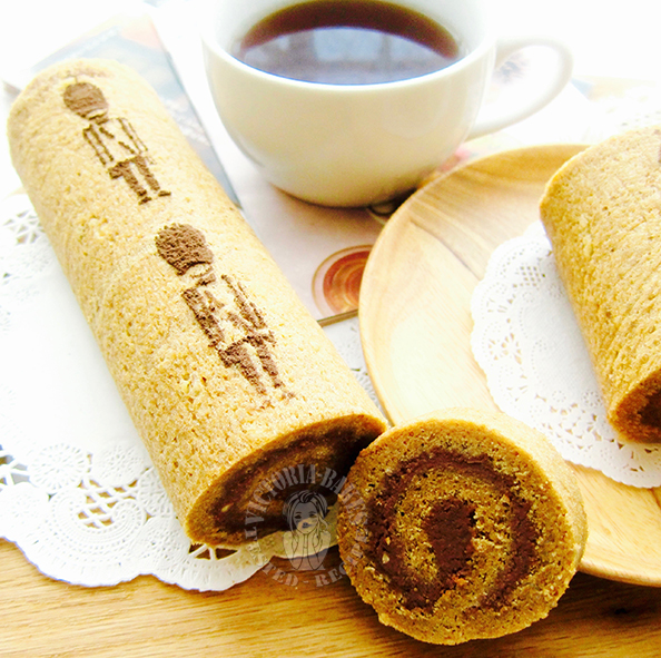 coffee swiss roll (with toblerone filling) 咖啡香蛋糕卷(含 toblerone 内馅)