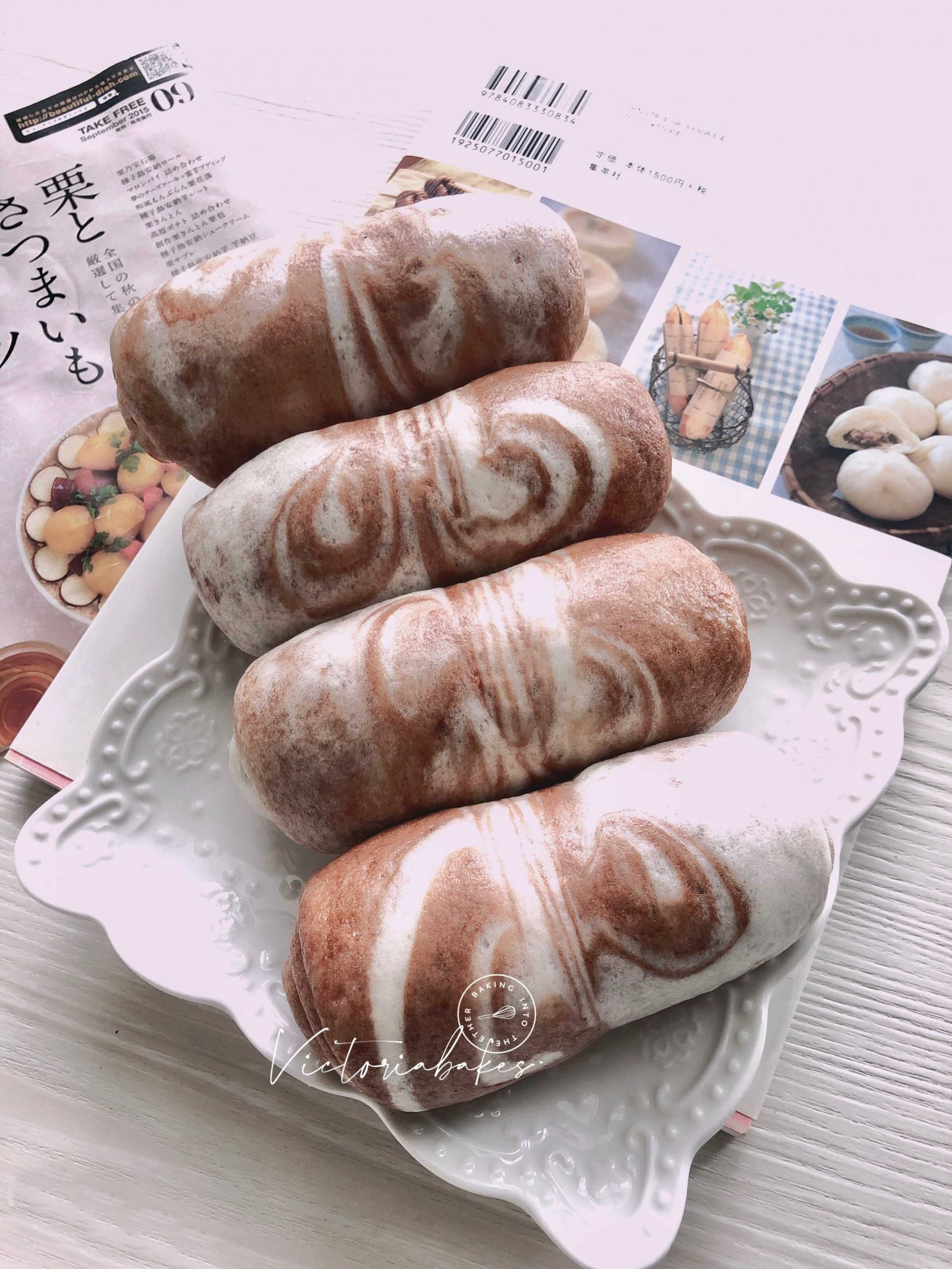marble swirl mantou (steam bun) 云石蒸馒头