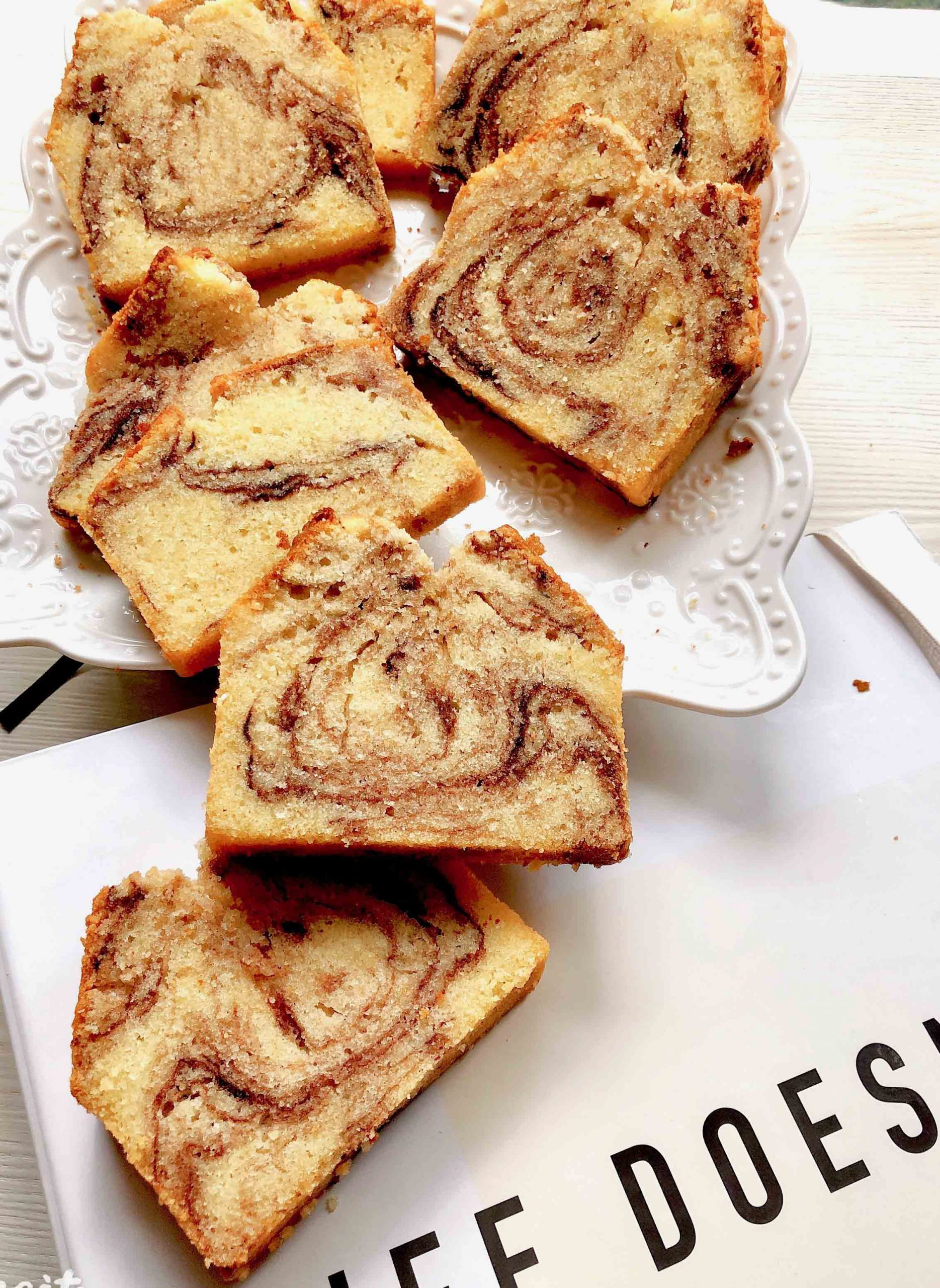 the perfect marble swirl cake 完美的云石蛋糕