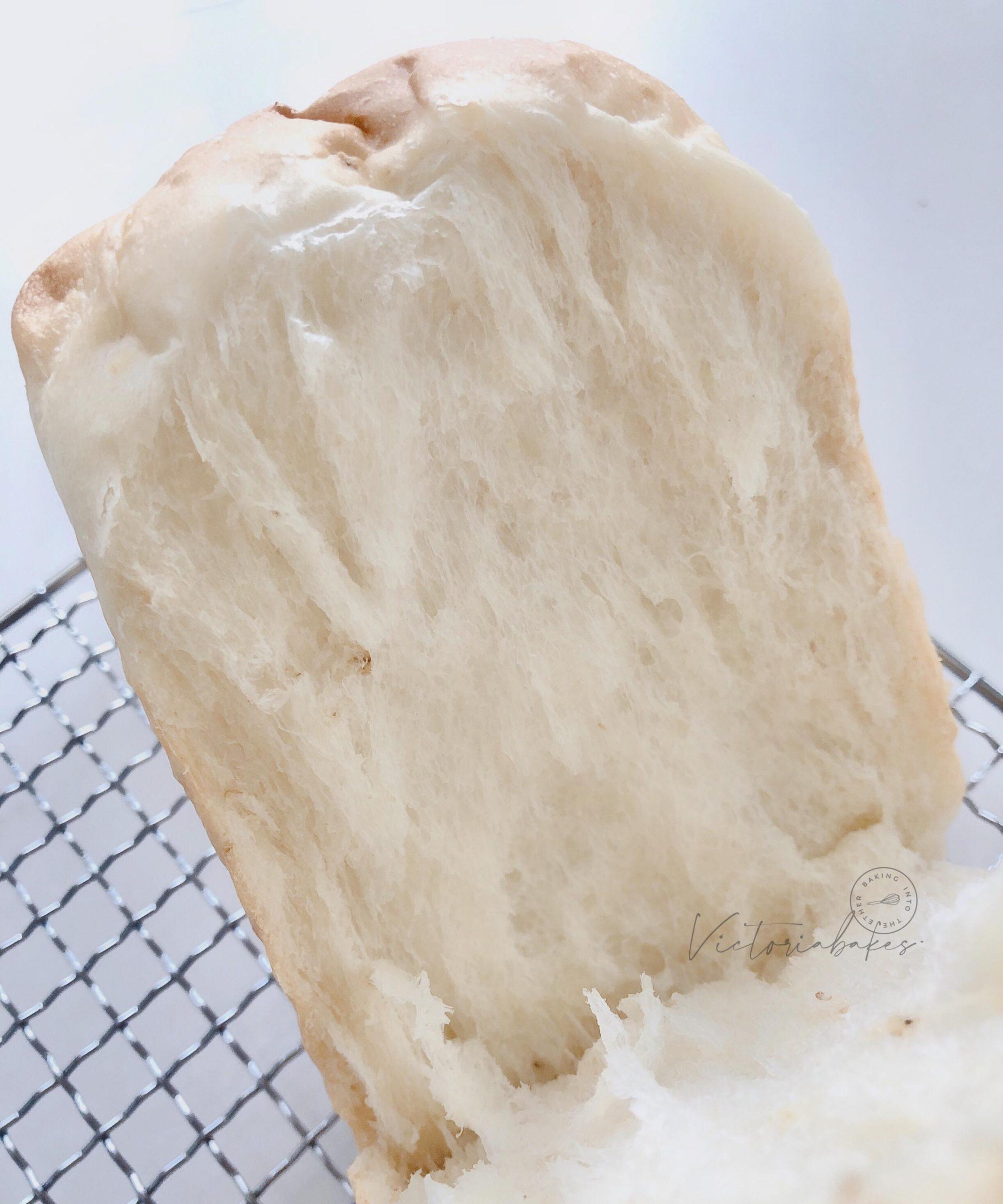 angel toast (no butter/oil) & shaping sticky dough (video) ~ highly recommended 天使无油吐司 . 粘手的面团如何整形 (附视频)~ 强推