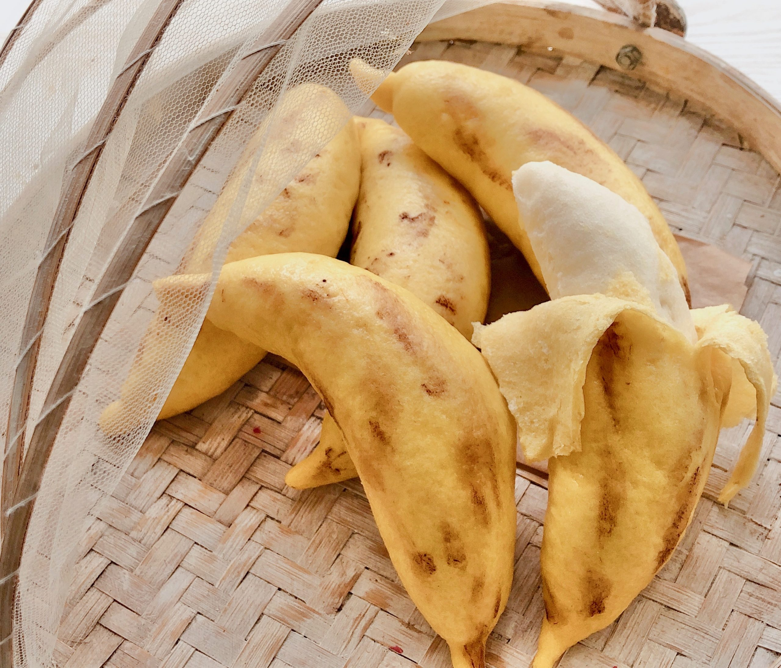 u can even eat the skin ~ banana mantou 连皮都能吃的香蕉馒头